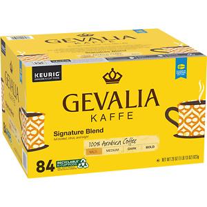 84 Count Gevalia Signature Blend Mild Roast KCup Coffee Pods 100% Arabica Coffee