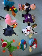 MEANIES PLUSH LOT OF 9 SERIES 1,2, AND INFAMOUS BEAN BAGS