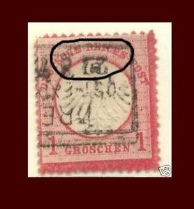 DR 4, 1 Gr Adler mit Druckfehler gest  #174A