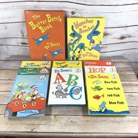 New Vintage Dr. Seuss's Hardcover Books 1960s Lot of 10 Green Eggs Wocket ABC