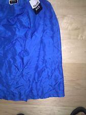 "Vintage 1980's Silk Colour 100% Silk Royal Blue Wrap Skirt Sz L 23"""