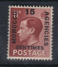 1936 EDVIII 11/2d MOROCCO AGENCIES OVPT (FRENCH) 15c UNMOUNTED MINT SG228