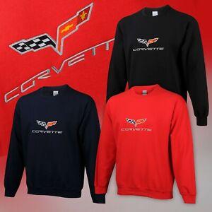 2005-2013 Corvette C6 Men's Embroidered Crew Neck Sweatshirt 670909