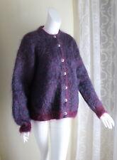 Icelandic Design -Sz M Hand-Knit 78% Mohair Very Furry Fluffy Beautiful Sweater
