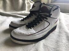 Nike Air Jordan 2 Retro 2004 Sz. 13 OG Vintage (White/Varsity Red/Black)