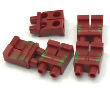 Lego 5 New Dark Red Hips and Legs with Bright Green and Red Trim Pattern Parts