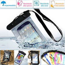 Custodia Cover smartphone impermeabile proteggi cellulare mare per Sony Xperia