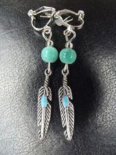 Turquoise Feather Costume Jewellery
