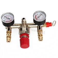 Useful Air Compressor Pressure Control Switch Valve Manifold Regulator Gauges US