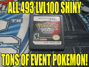 POKEMON PEARL AUTHENTIC All 493 SHINY GAME UNLOCKED EVENT POKEMON!