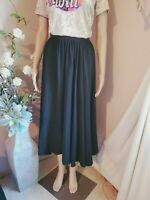 Vintage Black Elegant Full Pleated Maxi Skirt Size 12