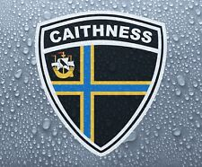Caithness county shield - Printed colour vinyl sticker graphic - PRNT1075