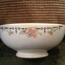 """TST IONA China Pottery Porcelain Footed Bowl Floral 5-3/4""""w  2-1/4""""t Vintage"""