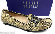 STUART WEITZMAN Rattlesnake Size 7 Loafers Ballet Flats or Shoes
