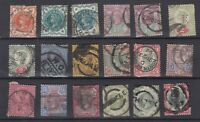 GB QV 1887 Jubilee Set Of 18 (Some Shades) SG197/214 Fine Used JK2915