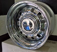 "15X7"" , 15x8  5/114.3 FORD CHROME 12 SLOT STEEL WHEELS WITH CAPS suit most FORD"