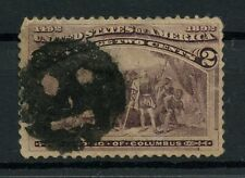 USA 1893 Scott #231 2c COLUMBIAN EXPOSITION ISSUE FANCY FACE CANCEL