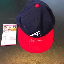 Vintage Hank Aaron Signed Authentic New Era Atlanta Braves Hat Cap With JSA COA