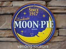 "New Since 1917 MOON PIE Brand Logo Distressed Retro Vintage Tin Metal 12"" Sign"