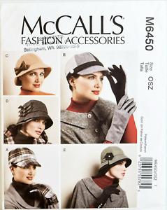 NEW! MCCALLS 6450 Cloche Cap Gloves SEWING PATTERN Winter Hats