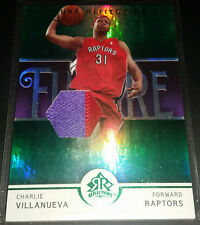 Charlie Villanueva 2005-06 Reflections GREEN PATCH Parallel Rookie Card (#09/25)