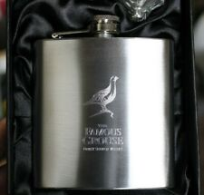 Grouse Whiskey HIP FLASK 6oz Stainless Steel - Free Engraving