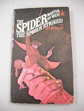 "1ST BOOK ED ""THE SPIDER STRIKES!"" BY SCOTT! CLASSIC `SPIDER` PULP ORIGIN STORY!"