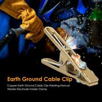 300A Earth Ground Cable Clip Clamp Welding Manual Welder Electrode Holder SS6