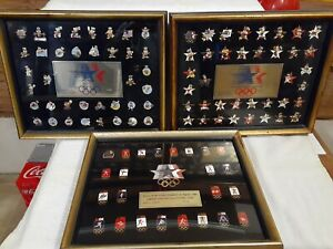 1984 OLYMPICS LIMITED EDITION COLLECTORS PINS - COMPLETE SET FRAMED