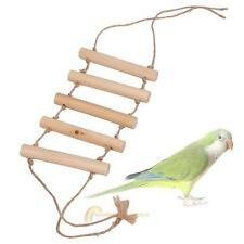 Natural Wood Small Parrot Rat Toy Bridge Ladder Hamster Bird Cage Accessories