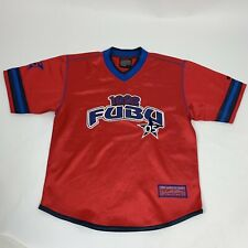 Vintage Fubu American Football Jersey Red Age 10 11 yrs Sz M Limited #05 tshirt