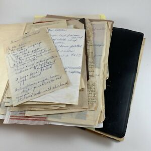 Vintage Binder of Recipes Handwritten Clippings Cookbook Estate Sale