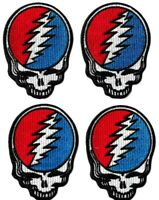 Grateful Dead Steal Your Face Logo Patch [Lot of 4] Embroidered Iron or Sew On