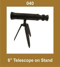 New 6 Inch Telescope on Stand Tripod Nautical Collectible GEc