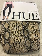 (NWT) Hue Women's Taupe/Black Python Faux Leather Leggings Size M