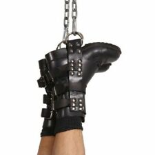 LEATHER BOOT/SUSPENSION CUFFS BONDAGE RESTRAINTS HEAVY DUTY (FREE P&P-UK)