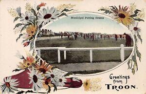 Golf, Municipal Putting Greens, Troon, Scotland, Early Postcard, Unused