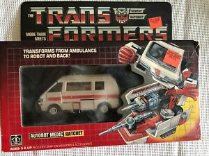 Transformers G1 Vintage 1984 RATCHET Autobot Complete with box