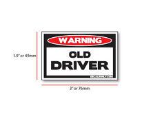 Warning Old Driver!  Sticker! DIESEL, PICKUP, TRUCK, CAR, ATV, SLED, JDM