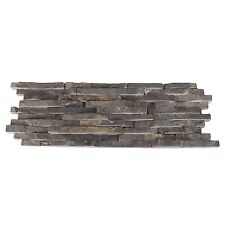 Split Face Mini Mosaic Tile Ledge Stone Grey / Nero   ( SAMPLE )