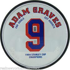 ADAM GRAVES NEW YORK RANGERS RETIREMENT NIGHT ACRYCLIC PUCK RARE