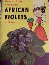 How To Grow African Violets At Home 1960 Vintage Book