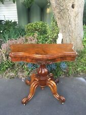 Beautiful Antique Victorian Hall Table w Hidden Games Table!  Corbet & Co London