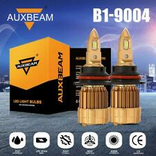 AUXBEAM 2X Headlights 9004 LED Bulbs HID Kit Super Bright Beam 6000K AUTO PARTS