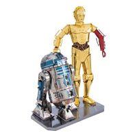 Metal Earth 3D Laser Cut Steel Model Kit Star Wars C-3PO & R2-D2 Model Gift Set