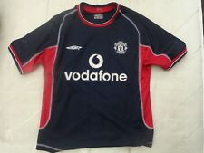 "MANCHESTER UNITED MAN UTD VINTAGE 2000/2001 UMBRO MENS 3RD AWAY XS 34"" SHIRT"