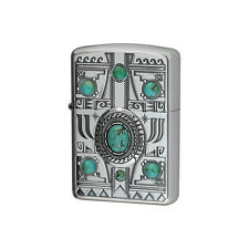 ZIPPO Lighter Indian spirit Eagle with Turquoise Best Buy Gift New from Japan