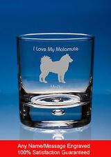 Malamute Dog Whisky Glass Dog Gift Personalised Engraved Dog Whiskey Tumbler