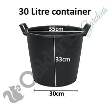 Heavy Duty Plastic Container Pot Tubs With Handles 30 - 130 Litre Potato Planter