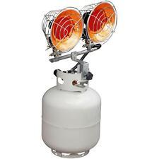 Double Tank Top Propane Heater Shop Garage Portable Outdoor LP Gas 30,000 BTU